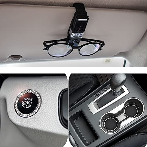 high quality EcoNour Gift Bundle   Sunglasses Holder for Car (4 Pack) + Bling Car 2021 Cup Holder Coasters (2 Pack) and Bling Car Crystal 2021 Rhinestone Ring (1 Pack) for Push Start Button outlet sale