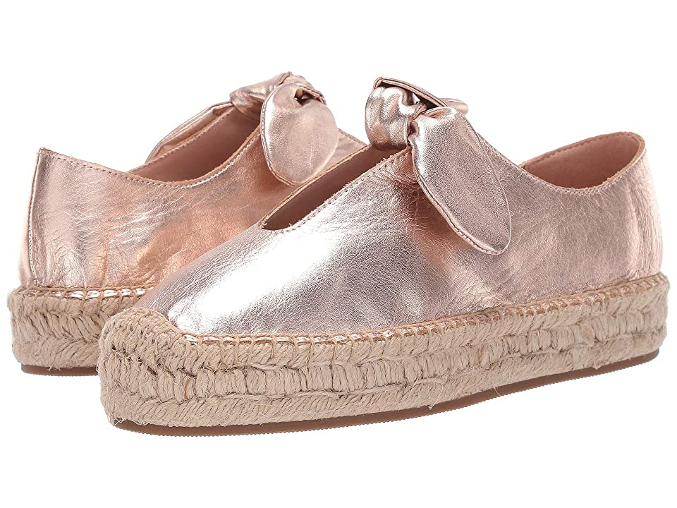 Bernardo Viola Espadrille Flat (Rose Gold Leather) Women
