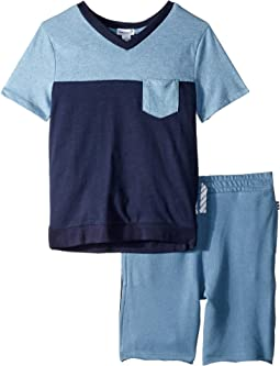 Color Block Pocket Tee Set (Toddler/Little Kids/Big Kids)