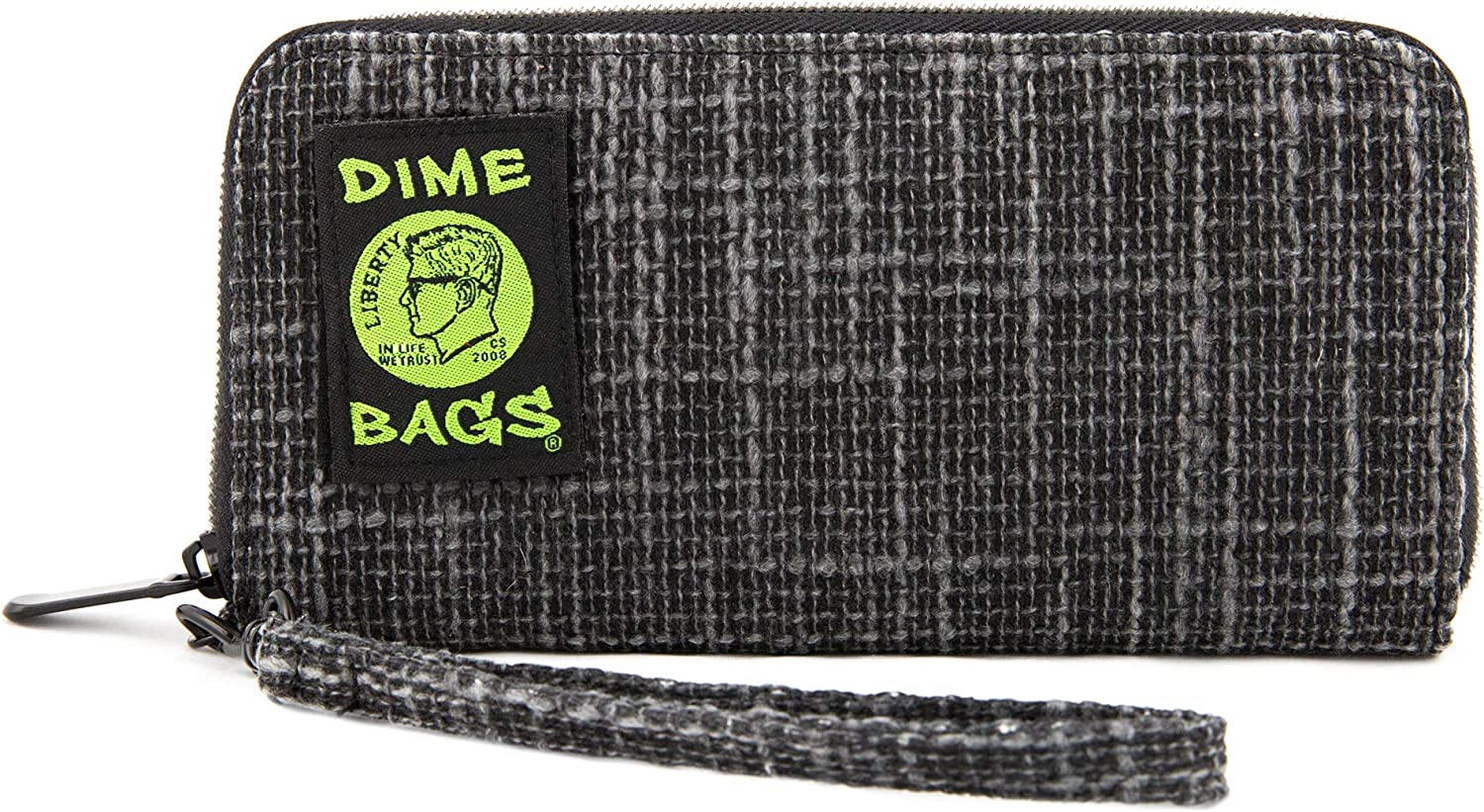 Dime Bags Wristlet Wallet - RFID-Blocking Carrying Case with Secure Zipper and Wristlet Loop