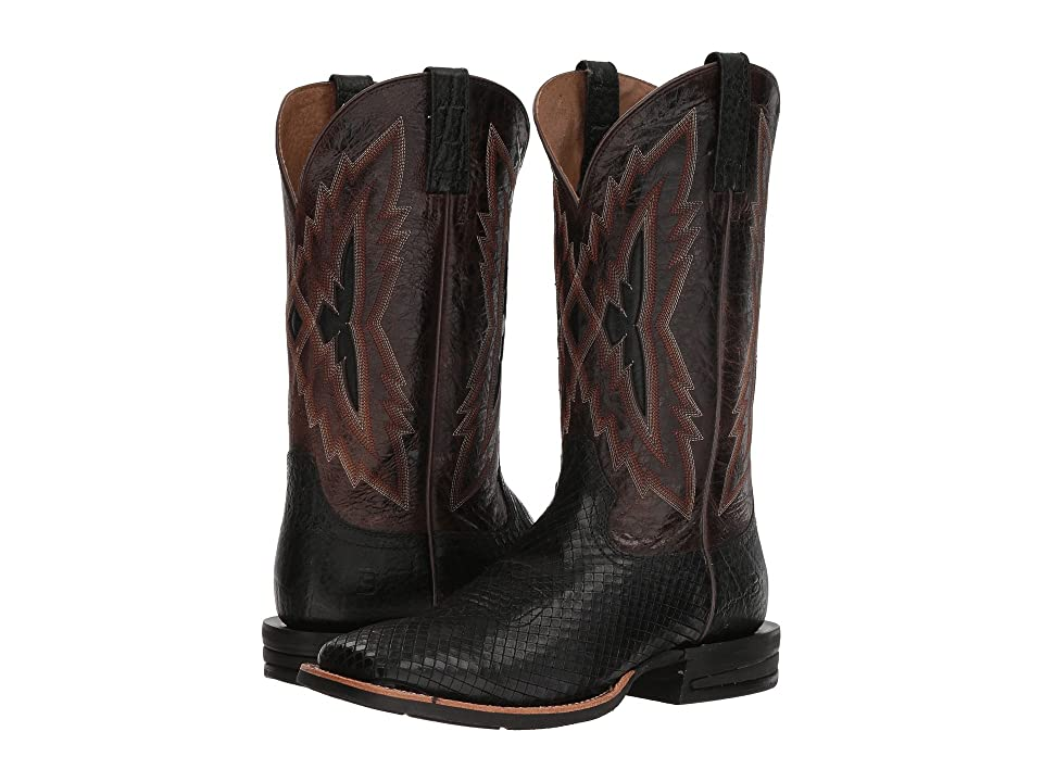Ariat Relentless Top Notch (Black Serpent/Wildhorse Chocolate) Cowboy Boots