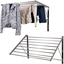 brightmaison Clothes Laundry Drying Racks - 2 Set Rack - Heavy Duty Stainless Steel Wall Mounted Folding Adjustable Collap...