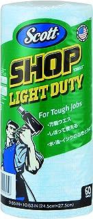 SCOTT(スコット) プロショップタオル ライトデューティ 60枚 (手軽に持ち運びができるロールタイプ) 65720
