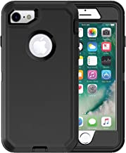 iPhone 7 Defender Case (Case Only) MAET iPhone 8 Built-in Screen Protector Rugged Rubber Case Compatible iPhone 7&iPhone 8 - Bulk Packaging (Case Only)-Black