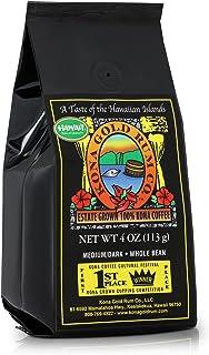 Kona Gold Coffee Whole Beans - 4 oz, by Kona Gold Rum Co. - Medium/Dark Roast Extra Fancy - 100% Kona Coffee