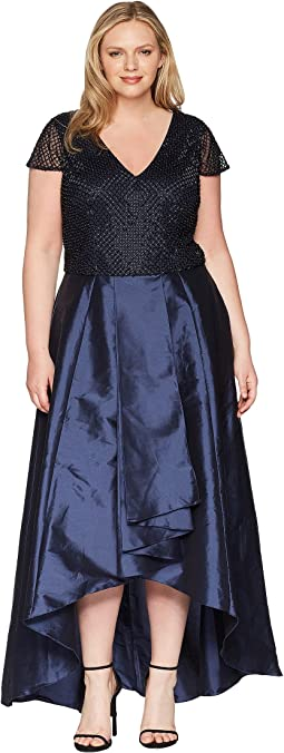 Adrianna Papell Plus Size Beaded Long Dress