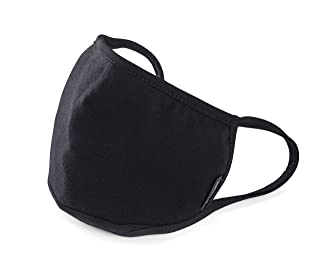 Allet Face Mask | Reusable 2 Pack | Black | Washable | Made with Polypropylene Non-Woven Filter | Comfortable Ear Loops | Nose Shaping Flex-Wire