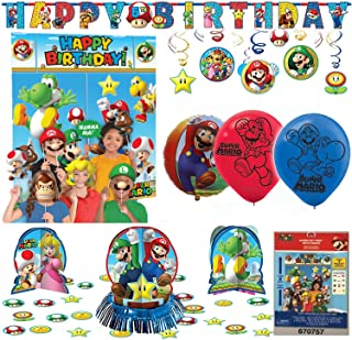 Super Mario Bros Birthday Party Package Decoration Kit