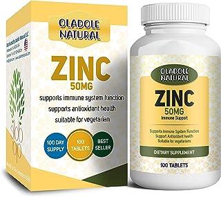 Oladole Natural Zinc Picolinate 50mg - 120 Capsules - Immunity Defense Boosts Immune System & Cellular Regeneration Maximu...