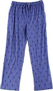 100% Cotton Allover Pony Jogger Pajama Pants Blue Large