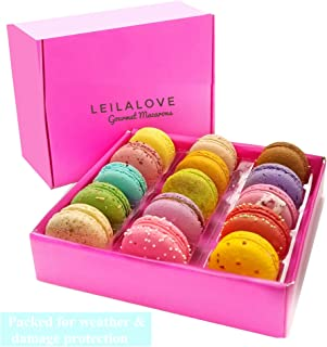 Leilalove Macarons - Paris Macarons 15 Collections of 10 Flavors - Lady in Pink