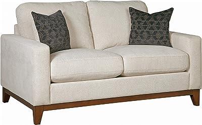 Coaster Home Furnishings Monrovia Upholstered Track Arm Loveseat Beige Love Seats