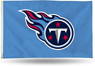 NFL Rico Industries 3-Foot by 5-Foot Single Sided Banner Flag with Grommets, Tennessee Titans