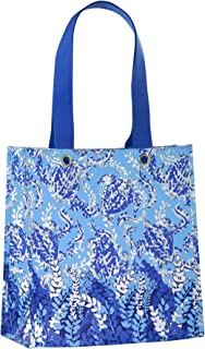Lilly Pulitzer Market Shopper Bag, Reusable Grocery Tote with Comfortable Shoulder Straps, Turtley Awesome