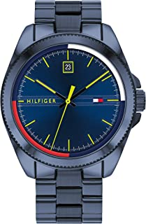 Tommy Hilfiger men's Navy Dial Ionic Plated Blue Steel Watch - 1791689