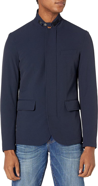 AX Armani Exchange Men's Padded Zipper Blazer