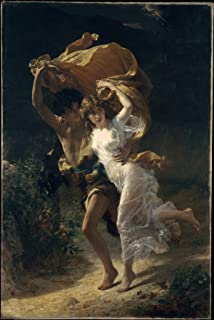 Pierre-Auguste Cot - The Storm, Size 16x24 inch, Poster art print wall décor