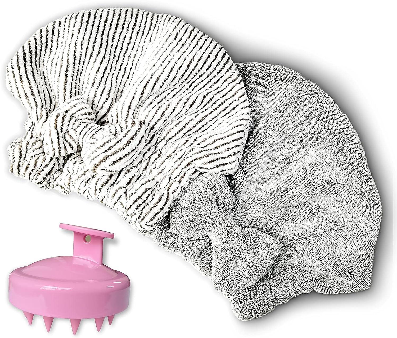 Microfiber Hair Towel Cap,Soft Absorbent Quick Drying Cap for Cu