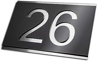 Hausnummer 1 anthrazit ral 7016 schwarz//wei/ß Nummern H/öhe 16cm Zahlen//T/ürschild//Hausnummer-Schild Hausnummernschild moderne Hausnummer in XXL mit gro/ße Zahlen RAL7016