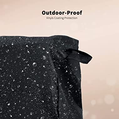 Grisun Heavy Duty Waterproof Gas Grill Cover, BBQ Cover 55 Inch for 3-4 Burner Grill, Fade and UV Resisitant Material, Fits f