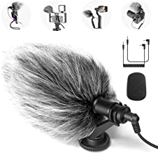 Neewer CM14 Mic Phone Mic on-Camera Video Microphone with Shock Mount, Windscreen and Audio Cables Compatible with Android...