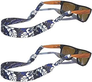 TORTUGA STRAPS FLOATZ Relaxed Fit Adjustable Glasses Strap   2 Pk Neoprene Floating Sunglass Straps & Retainer