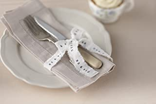 Ginger Ray AF-637, White Vintage Affair Mrs. Wedding Ribbon