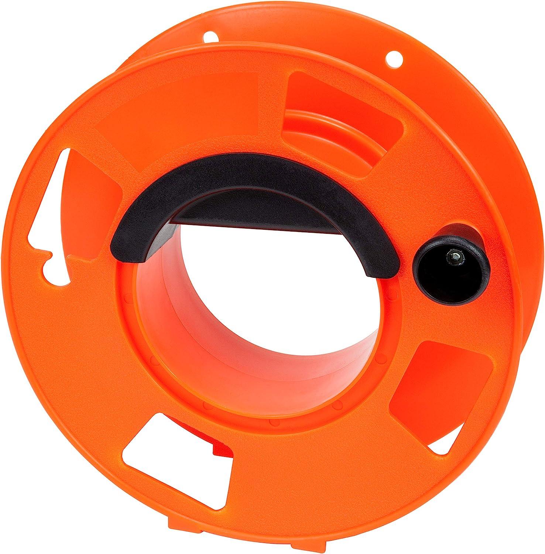 Cord Storage Reel with Center Spin Handle, 100-Feet,Orange