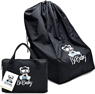 IsiBaby 汽车座椅旅行包带垫背包带可转换汽车座椅旅行包、门格、航空旅行储物盖包。