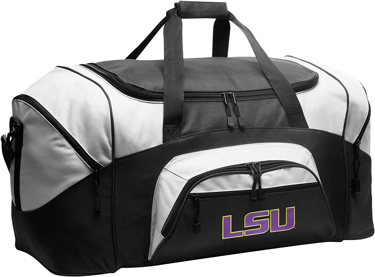 Large LSU Tigers Duffel Bag Suitcase Ma for Max 63% OFF Gym or A New color Men