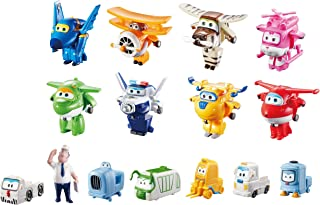 """Super Wings - Transform-a-Bots World Airport Crew 