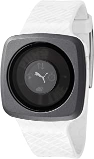 Puma Men's Blockbuster Multi-Function Black Digital Dial White Rubber