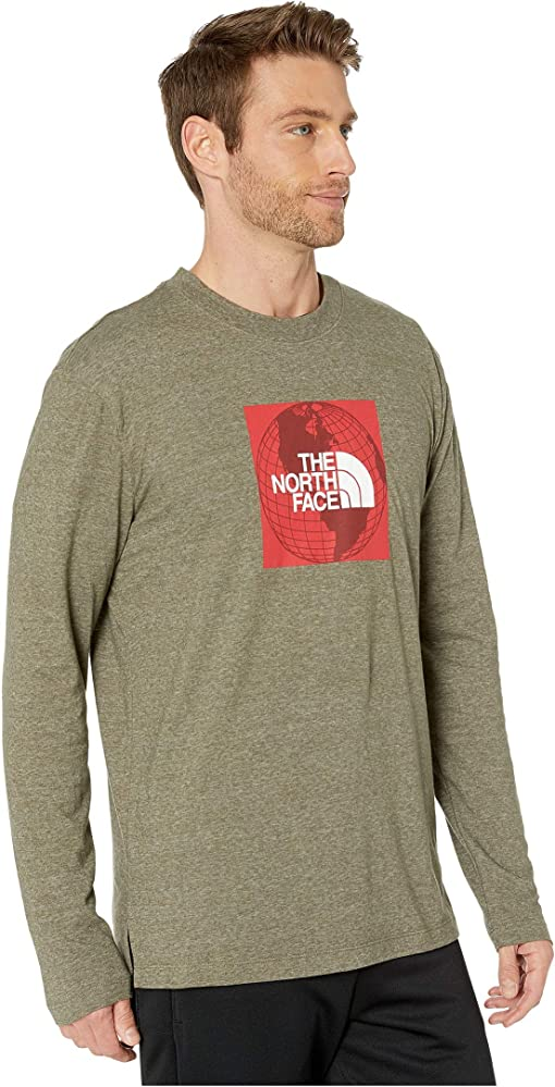 New Taupe Green Heather/TNF Red