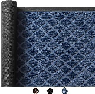 Color&Geometry Outdoor Door Mat 17X29 Rubber Mats, Low-Profile Doormat, Indoor Outdoor, Waterproof,Mat for Floor, Patio, Entry, Back Front Door,Blue