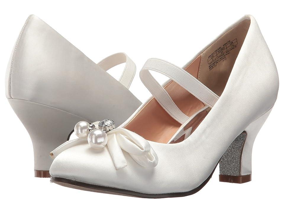 Badgley Mischka Kids Milah Pearl (Little Kid/Big Kid) (White) High Heels