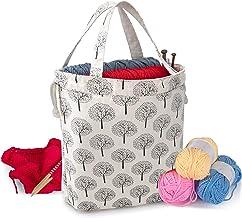 Katrina#1638 Large Project Bag Crochet Bag Yarn Bag Rust and Gold Knitting Bag Expanding Knitting Bag Large Project Tote Crochet Tote