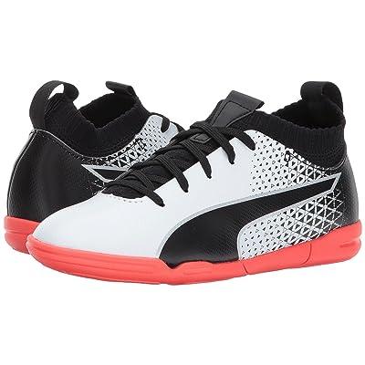 Puma Kids evoKnit FTB IT (Little Kid/Big Kid) (Puma White/Puma Black/Fiery Coral) Kids Shoes