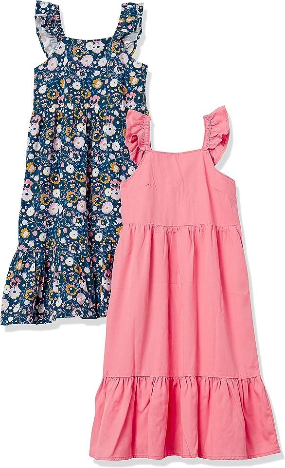 Mädchen Ärmellose gewebte Kleider