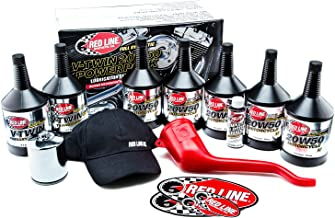Red Line 90226 Big Twin 20w50 Power Pack Oil Package with K&N High Performance Oil Filter KN-171C