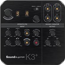 Creative Sound Blaster K3+ USB Powered 2 Channel Digital Mixer AMP/DAC/, Digital Effects XLR Inputs with Phantom Power / T...