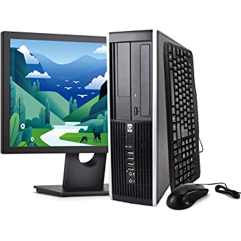HP Elite Desktop Computer Package - Windows 10 Professional, Intel Quad Core i5 3.2GHz, 8GB RAM, 500GB HDD, 22inch LCD Monitor, Keyboard, Mouse, WiFi, Microsoft Authorized Refurbished PC (Renewed)