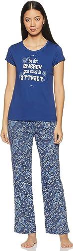 Womens Nightwear Regular Fit T Shirt And Pyjama