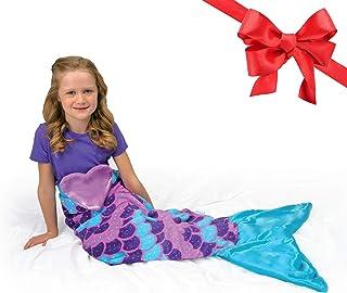 Snuggie Tails Mermaid Blanket- Comfy, Cozy, Super Soft, Warm, All Season, Wearable..