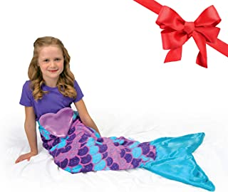 Snuggie Tails Mermaid Blanket- Comfy, Cozy, Super Soft,...