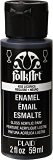 FolkArt 40-4032  Enamel Glass & Ceramic Paint in Assorted Colors (2 oz), 4032, Licorice
