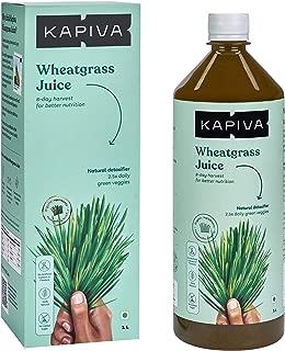 Kapiva 100% Natural Wheatgrass Juice, Natural Detoxifier – No Added Sugar, 1L