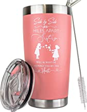Sister Gifts from Sister Funny Mugs - Unique Sister Gifts from Sister -Soul Sister Gifts for Women- Coffee Tumbler for Women - Cute Travel Mugs for Women - Best Sister Gifts- 20 Oz Tumbler (Pink)