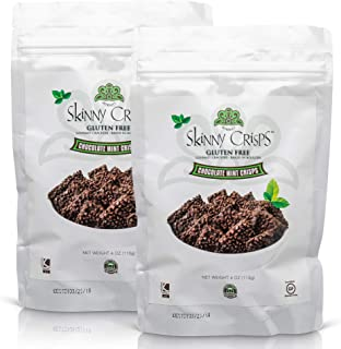 Skinny Crisps Chocolate Mint Gluten Free Crackers (Pack of 2)