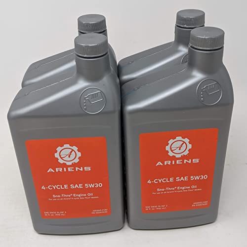 lowest Ariens outlet online sale 000676 lowest SAE 5W-30 Sno-Thro Engine Oil Quart (Pack of 4) sale