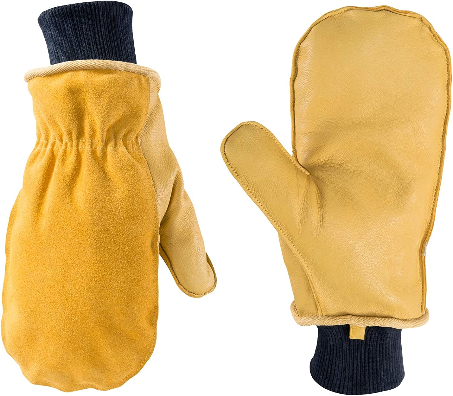 Men's Winter Leather Mitten with Glove Liner, Extra Large (Wells Lamont 1430)